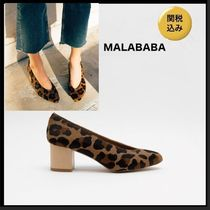 Malababa Leopard Patterns Leather Pumps & Mules