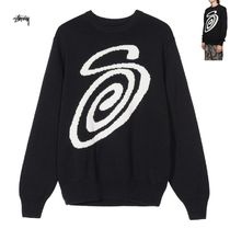 STUSSY Unisex Street Style Long Sleeves Cotton Knits & Sweaters