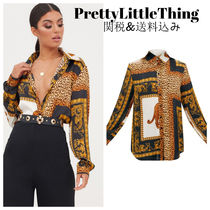PrettyLittleThing Leopard Patterns Long Sleeves Other Animal Patterns Long