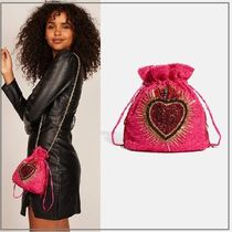 SKINNYDIP Heart 2WAY Chain Party Style Elegant Style Clutches