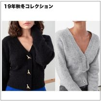 & Other Stories Casual Style Wool Long Sleeves Plain Elegant Style Cardigans