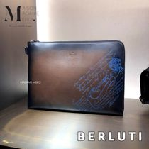 Berluti Calfskin Leather Clutches