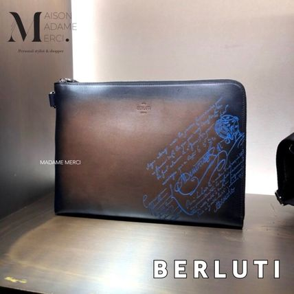Calfskin Leather Clutches