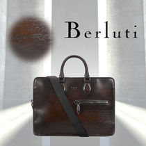 Berluti A4 2WAY Plain Leather Business & Briefcases