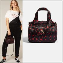 SKINNYDIP Flower Patterns Casual Style 2WAY Elegant Style Totes