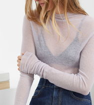 & Other Stories Casual Style Cashmere Rib Long Sleeves Plain Party Style