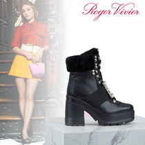 Roger Vivier Fur Leather Ankle & Booties Boots