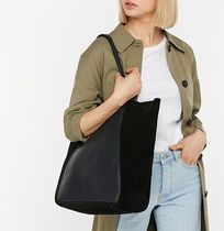 Accessorize Casual Style Unisex Suede A4 Plain Leather Office Style