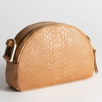 & Other Stories Casual Style Leather Python Elegant Style Shoulder Bags