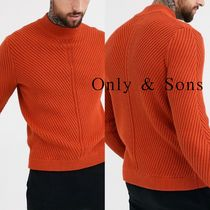 ASOS Cable Knit Pullovers Street Style Long Sleeves Plain Cotton