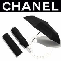CHANEL ICON Unisex Plain Handmade Umbrellas & Rain Goods