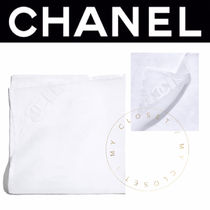 CHANEL ICON Street Style Plain Cotton Handmade Handkerchief
