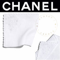 CHANEL ICON Flower Patterns Street Style Cotton Handmade Handkerchief