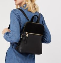 Accessorize Casual Style Suede Plain Leather Elegant Style Backpacks