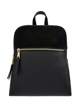 Casual Style Suede Plain Leather Elegant Style Backpacks