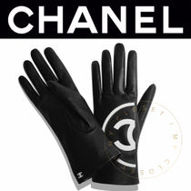 CHANEL ICON Street Style Plain Leather Handmade