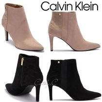 Calvin Klein Plain Pin Heels Party Style Ankle & Booties Boots