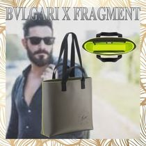 Bvlgari Casual Style Unisex Calfskin Street Style Collaboration A4