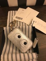Anya Hindmarch Unisex Street Style Leather Long Wallet  Logo Coin Cases