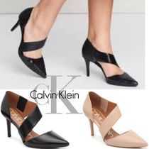 Calvin Klein Plain Leather Pin Heels Party Style Office Style