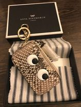 Anya Hindmarch Leather Python Long Wallet  Logo Coin Cases