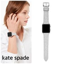 kate spade new york Casual Style Leather Silver Elegant Style Glitter