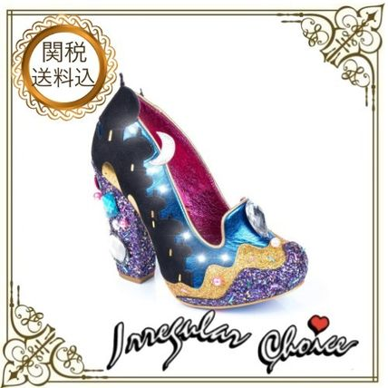Round Toe Party Style Glitter Shoes