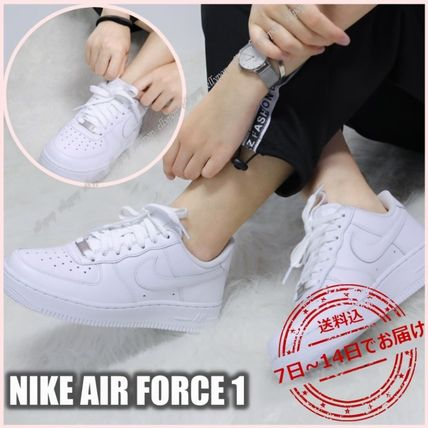 Nike AIR FORCE 1 Platform Casual Style Street Style Logo Low-Top Sneakers