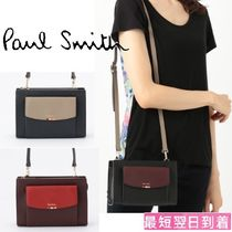 Paul Smith Stripes Leather Elegant Style Shoulder Bags