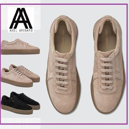 Rubber Sole Casual Style Suede Plain Leather Logo