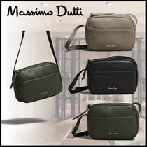 Massimo Dutti Leather Elegant Style Shoulder Bags