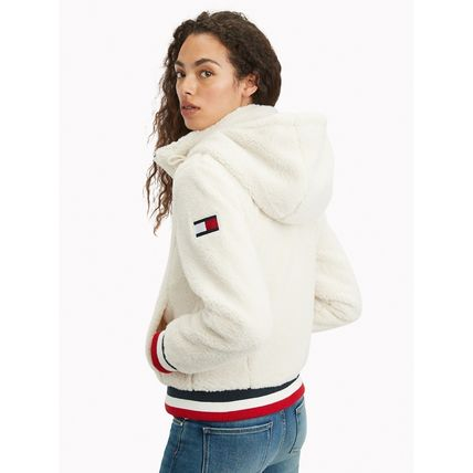 Tommy Hilfiger Casual Style Unisex Street Style Bi-color Shearling