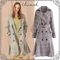 Chicwish Other Check Patterns Medium Long Office Style Elegant Style