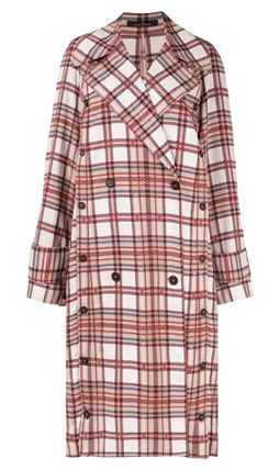 Other Plaid Patterns Casual Style Oversized Elegant Style