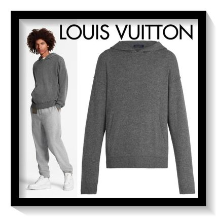 Louis Vuitton Sweaters Pullovers Cashmere Long Sleeves Plain Oversized Luxury