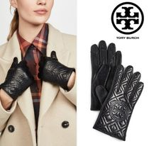 Tory Burch Tory Burch FLEMING Plain Leather Leather & Faux Leather Gloves