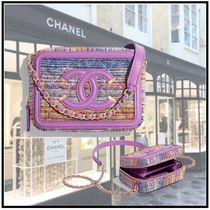 CHANEL 2020 CRUISE CHAIN CLUTCH multicolor shoulder bags