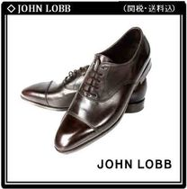 John Lobb CITY Straight Tip Leather Oxfords