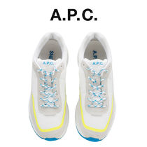 A.P.C. Unisex Blended Fabrics Street Style Low-Top Sneakers