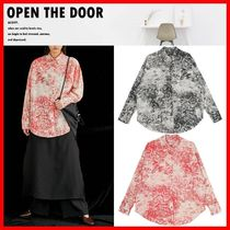 OPEN THE DOOR Casual Style Street Style Cotton Shirts & Blouses