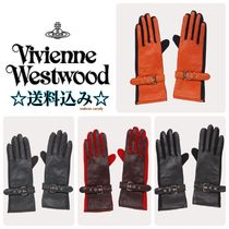 Vivienne Westwood Star Wool Leather Leather & Faux Leather Gloves