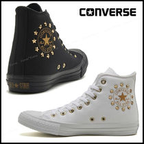 CONVERSE ALL STAR Star Unisex Studded Street Style Plain Sneakers