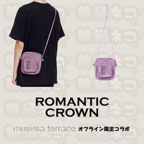 ROMANTIC CROWN Casual Style Unisex Street Style Shoulder Bags
