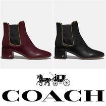 Coach Casual Style Plain Block Heels Ankle & Booties Boots