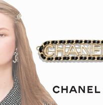 CHANEL Barettes Chain Party Style Elegant Style Clips