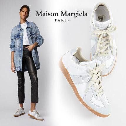 Street Style Leather Low-Top Sneakers