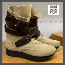 LOEWE Suede Leather Ankle & Booties Boots