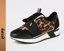 River Island Leopard Patterns Casual Style Low-Top Sneakers