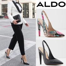 ALDO Plain Other Animal Patterns Leather Pin Heels Party Style