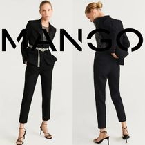 MANGO Casual Style Plain Long Skinny Pants